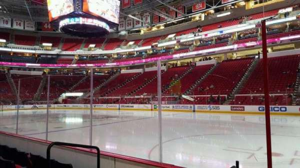 PNC Arena, vak: 101, rij: d, stoel: 3