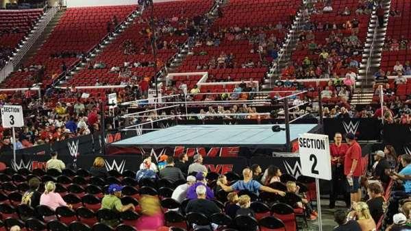 PNC Arena, vak: 118, rij: H, stoel: 8