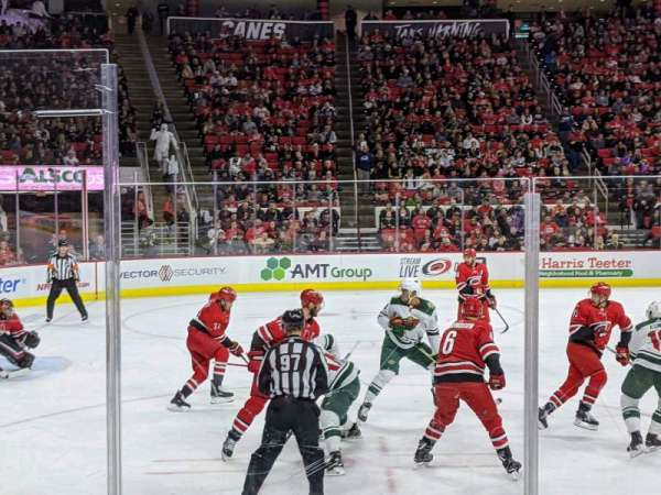 PNC Arena, vak: 107, rij: f, stoel: 1