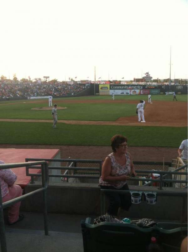 CommunityAmerica Ballpark, vak: 109, rij: 8, stoel: 1-4