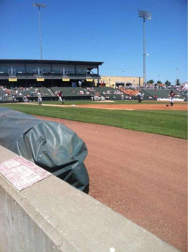 CommunityAmerica Ballpark, vak: 113, rij: 1, stoel: 1