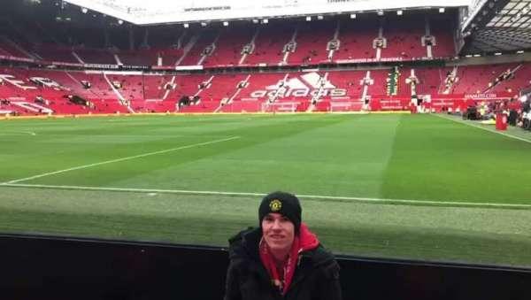 Old Trafford, vak: w106, rij: AA, stoel: 45