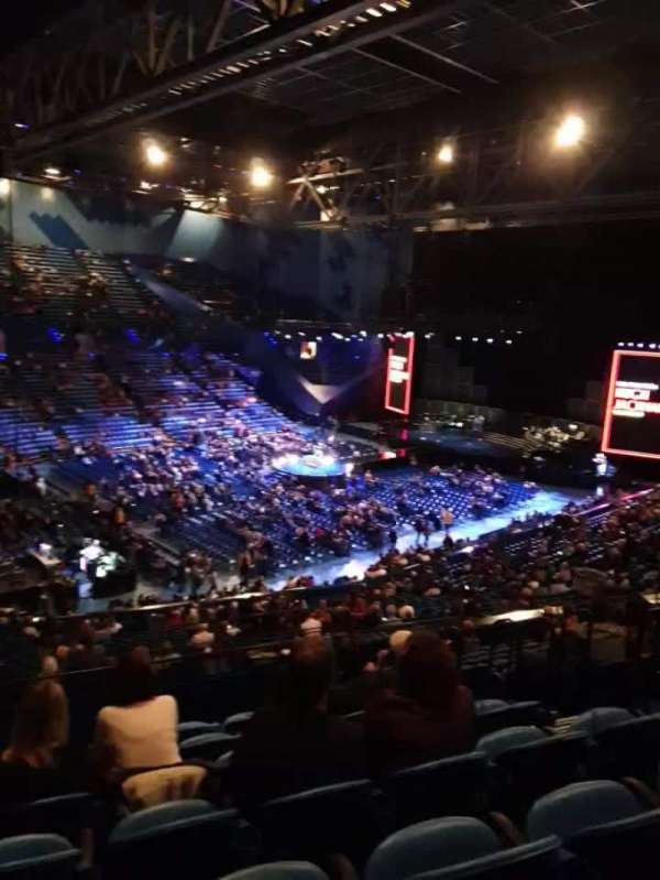 RAC Arena, vak: 309, rij: L, stoel: 6