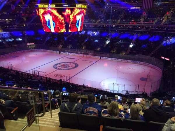 Madison Square Garden, vak: 214, rij: 10, stoel: 1
