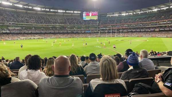 Melbourne Cricket Ground, vak: M28, rij: X, stoel: 17