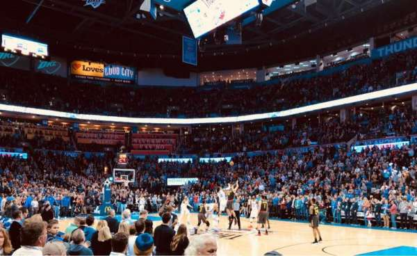 Chesapeake Energy Arena, vak: 114, rij: A, stoel: 10