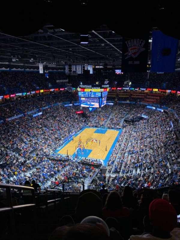 Chesapeake Energy Arena, vak: 314, rij: P, stoel: 25