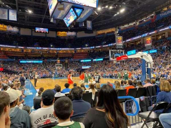Chesapeake Energy Arena, vak: 112, rij: DD, stoel: 4