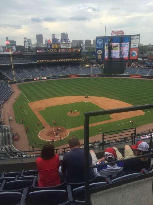 Turner Field, vak: 405L, rij: 6, stoel: 101