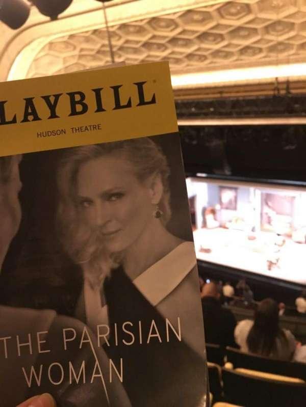 Hudson Theatre, vak: Balcony, rij: F, stoel: 4