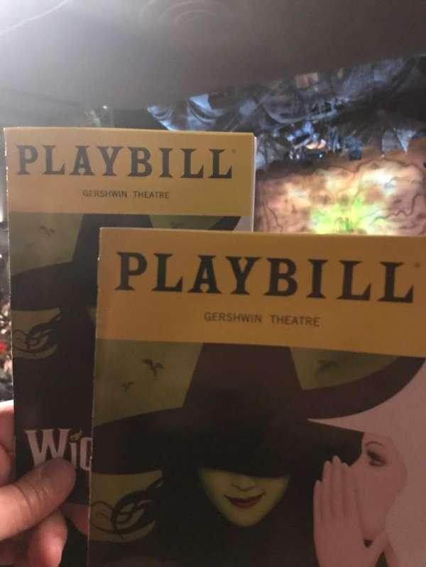 Gershwin Theatre, vak: Orch, rij: W