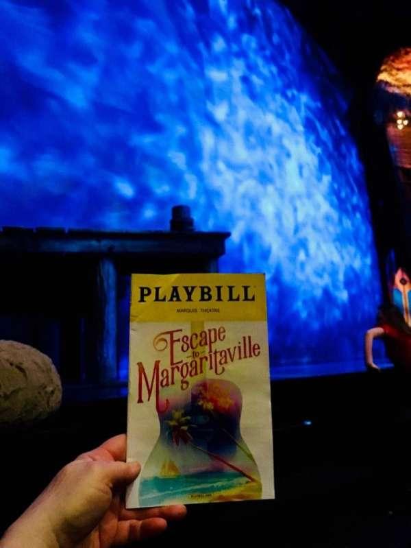 Marquis Theatre, vak: L Orch, rij: B
