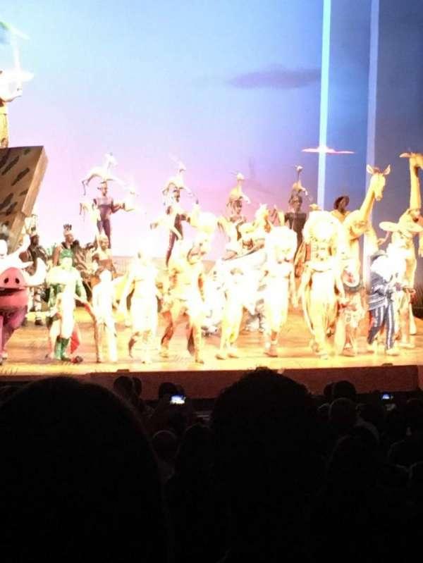 Minskoff Theatre, vak: Orchestra L, rij: Zz