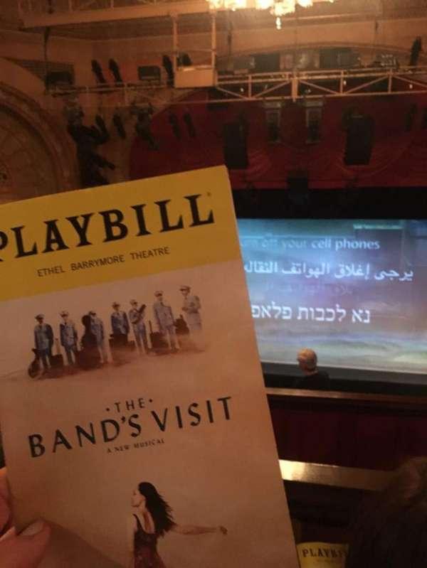 Ethel Barrymore Theatre, vak: R Mezz, rij: Zz, stoel: 109
