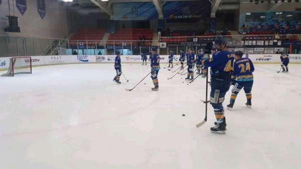 Anyang Ice Hockey Rink, vak: 특별석 (Special Seat), rij: 1, stoel: 4
