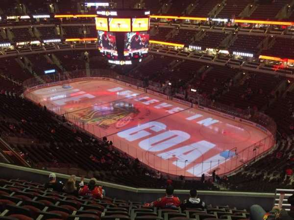 United Center, vak: 313, rij: 11, stoel: 8