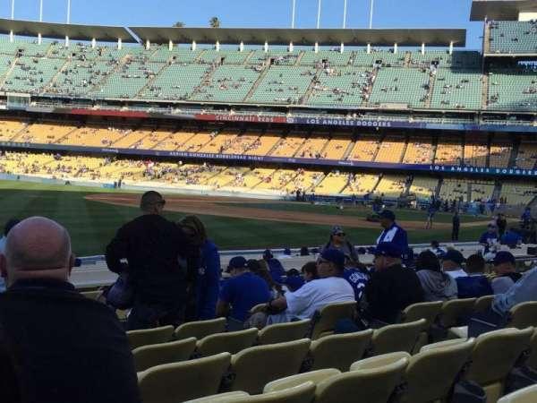 Dodger Stadium, vak: 45FD, rij: J, stoel: 8