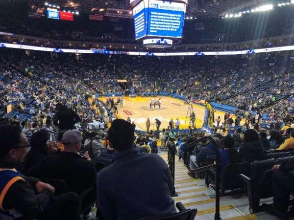 Oracle Arena, vak: 123, rij: 18, stoel: 2
