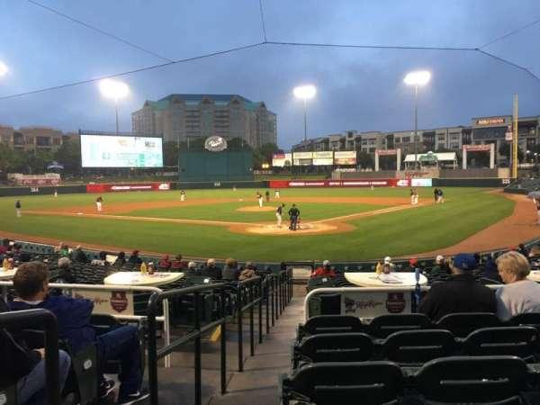 Dr Pepper Ballpark, vak: 113, rij: 18, stoel: 12