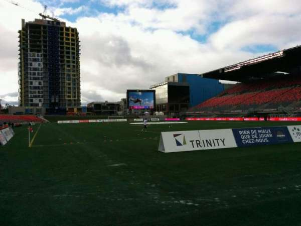 TD Place Stadium, vak: K, rij: 1, stoel: 3