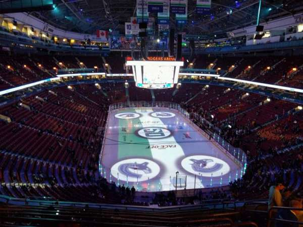 Rogers Arena, vak: 301, rij: 11, stoel: 108