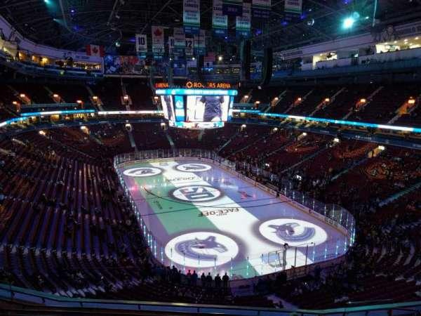 Rogers Arena, vak: 302, rij: 9, stoel: 106