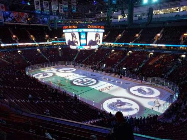 Rogers Arena, vak: 304, rij: 7, stoel: 106
