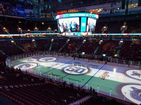 Rogers Arena, vak: 306, rij: 1, stoel: 108