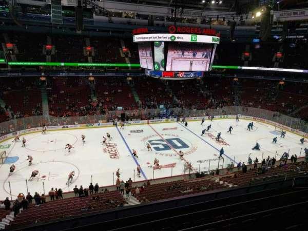Rogers Arena, vak: 309, rij: 6, stoel: 107