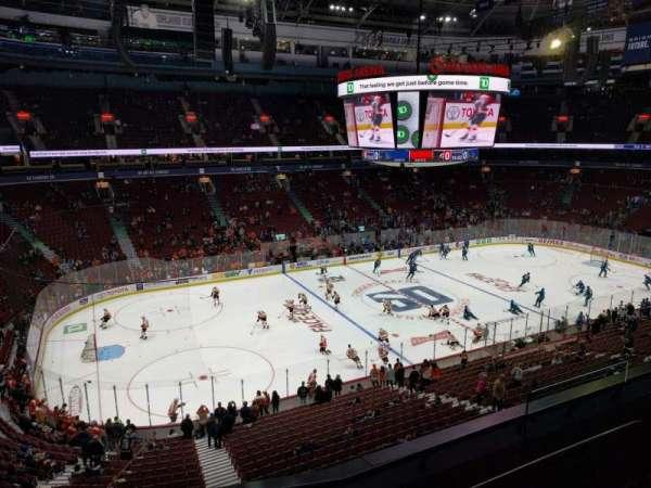 Rogers Arena, vak: 310, rij: 4, stoel: 107