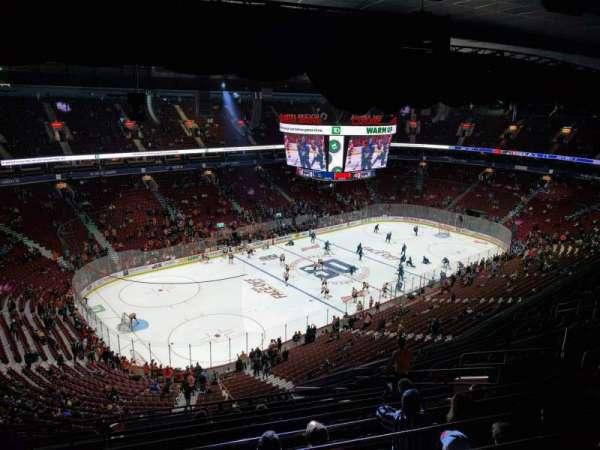 Rogers Arena, vak: 311, rij: 15, stoel: 110