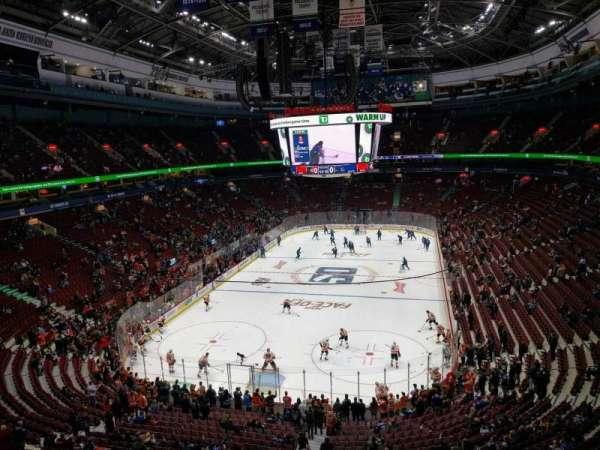 Rogers Arena, vak: 314, rij: 5, stoel: 105