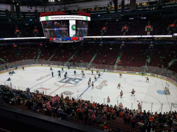 Rogers Arena, vak: 321, rij: 3, stoel: 102