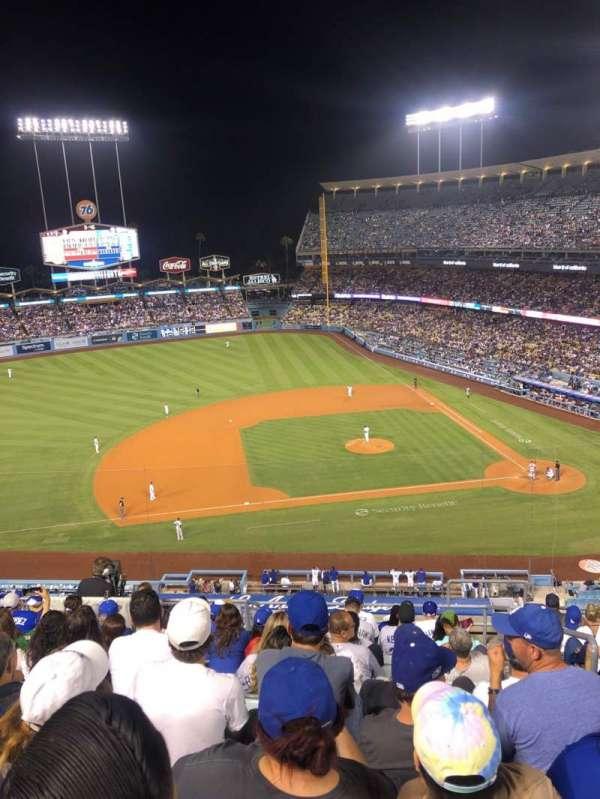 Dodger Stadium, vak: 19RS, rij: L, stoel: 2
