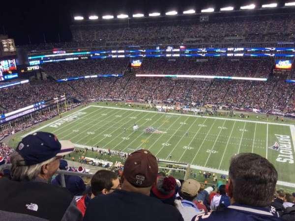 Gillette Stadium, vak: 306, rij: 16, stoel: 23