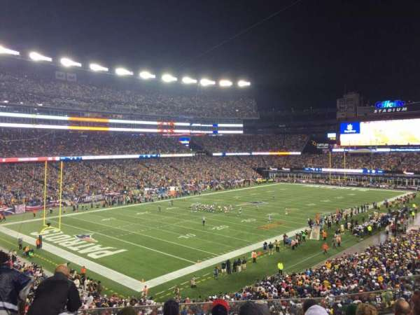 Gillette Stadium, vak: 238, rij: 6, stoel: 7