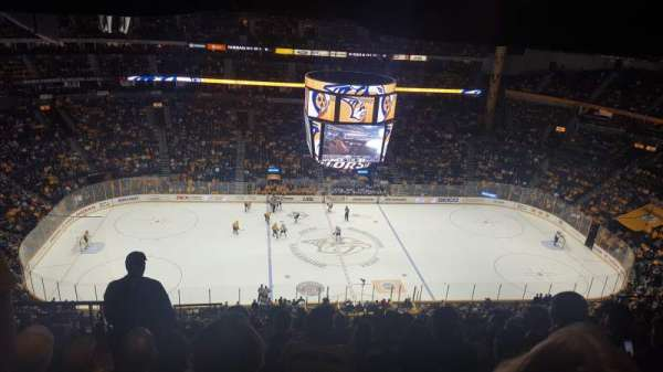 Bridgestone Arena, vak: 309, rij: P, stoel: 20