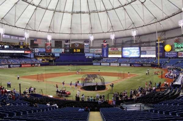 Tropicana Field, vak: 103, rij: gg, stoel: 3