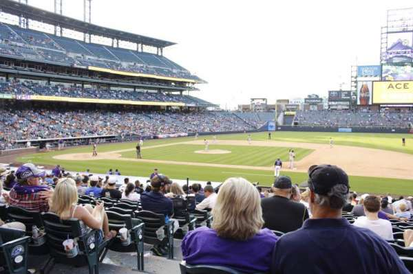 Coors Field, vak: 121, rij: 24, stoel: 12