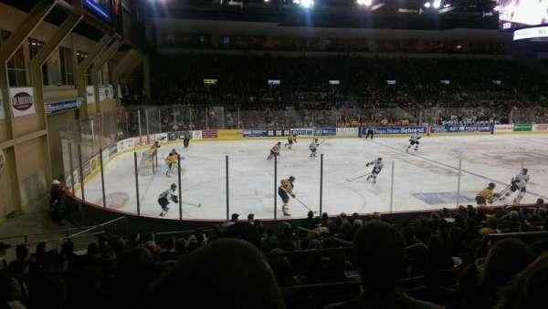 Erie Insurance Arena, vak: 201, rij: P, stoel: 6