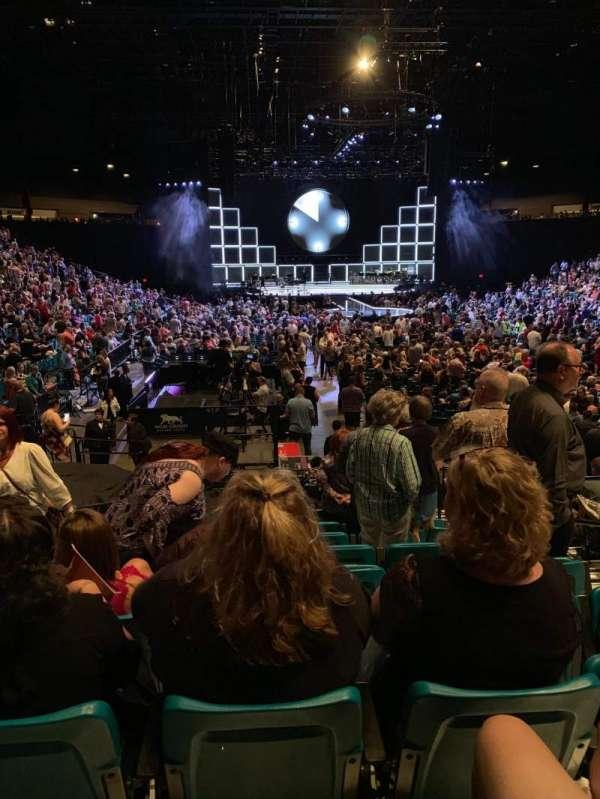 MGM Grand Garden Arena, vak: 3, rij: N, stoel: 4