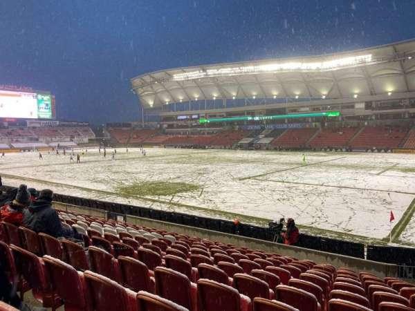 Rio Tinto Stadium, vak: 34, rij: M, stoel: 4