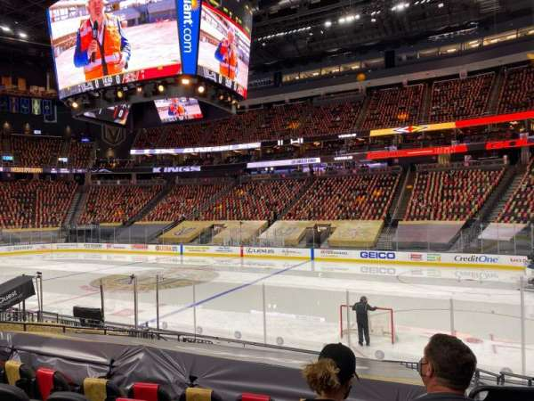 T-Mobile Arena, vak: 7, rij: J, stoel: 12