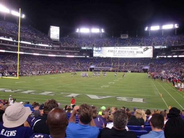 M&T Bank Stadium, vak: 138, rij: 15, stoel: 10