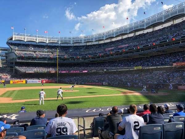 Yankee Stadium, vak: 124, rij: 1, stoel: 11