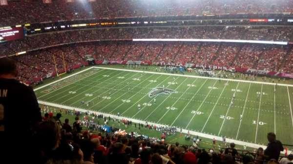 Georgia Dome, vak: 319, rij: 17, stoel: 22
