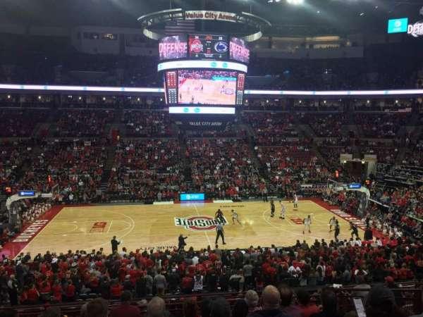 Value City Arena , vak: 206, rij: H, stoel: 6