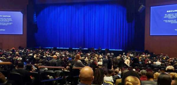 The Theater at MGM National Harbor, vak: 102, rij: K, stoel: 12
