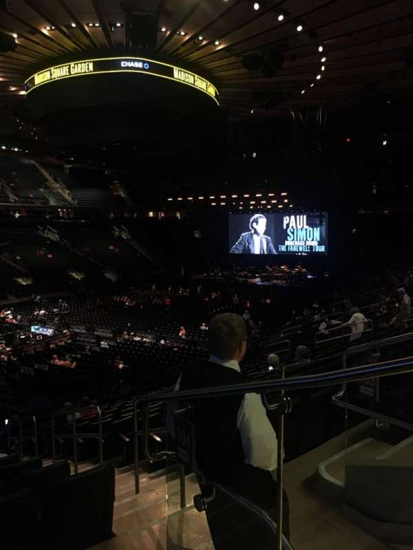 Madison Square Garden, vak: 104, rij: 20, stoel: 22