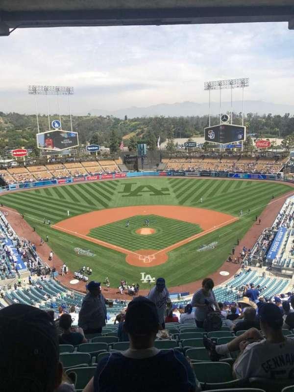 Dodger Stadium, vak: 1RS, rij: U, stoel: 13